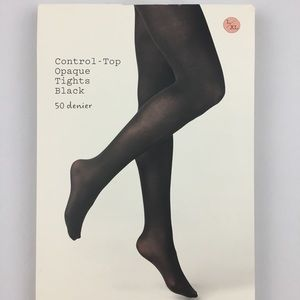 A New Day Control Top Opaque Black Tights 50D